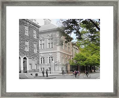 University Of Pennsylvania Law Department Framed Print