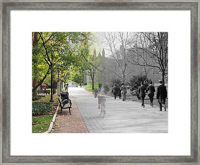 University Of Pennsylvania Walk Framed Print