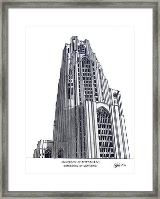 University Of Pittsburgh Framed Print by Frederic Kohli