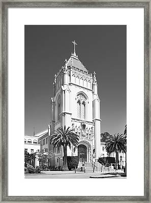 University Of San Francisco Lone Mountain Tower Framed Print by University Icons