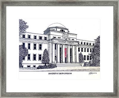 University Of South Carolina Framed Print by Frederic Kohli