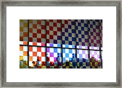 University Of Tampa Through A Rainbow By Sharon Cummings Framed Print by Sharon Cummings