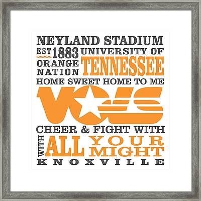 University Of Tennessee Graphic Canvas Framed Print