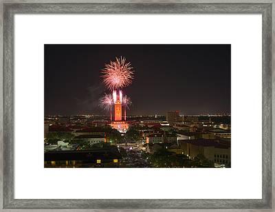University Of Texas At Austin - Graduation Ceremony 2014 Framed Print