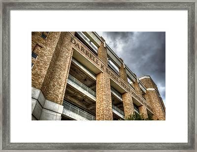 University Of Texas Football Stadium Framed Print by Joan Carroll