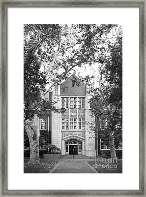 University Of The Pacific - Knoles Hall Framed Print by University Icons