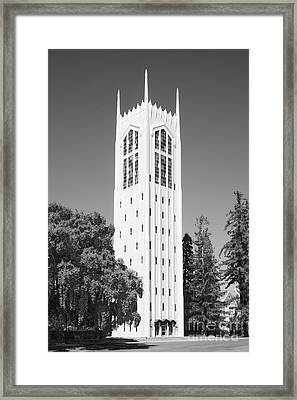 University Of The Pacific Burns Tower Framed Print by University Icons