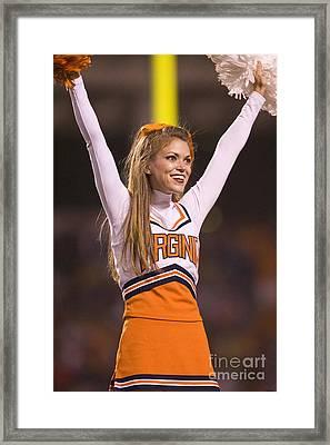 University Of Virginia Cheerleader Framed Print