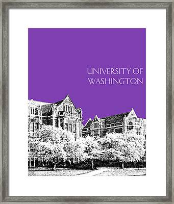 University Of Washington 2 - The Quad - Purple Framed Print by DB Artist