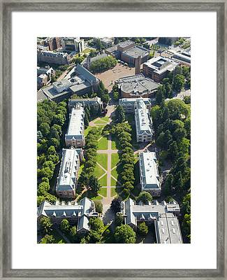 University Of Washington Campus, Seattle Framed Print by Andrew Buchanan/SLP