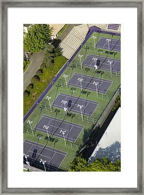 University Of Washington Tennis Courts Framed Print