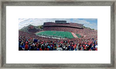 University Of Wisconsin Football Game Framed Print by Panoramic Images