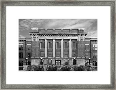 University Of Wisconsin Milwaukee Mitchell Hall Framed Print