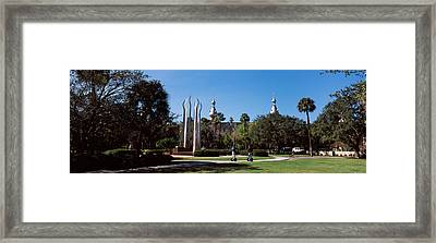 University Students In The Campus Framed Print by Panoramic Images