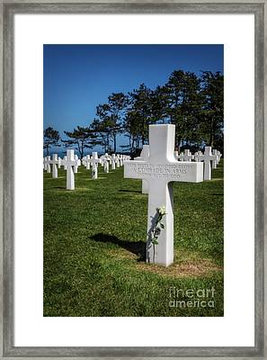 Unknown American Soldier Framed Print by Tamson