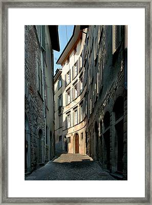 Unknown Artist, Citt Alta - Bergamo Framed Print by Everett