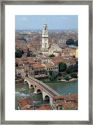 Unknown Artist, Gateway To Ponte Pietra Framed Print by Everett