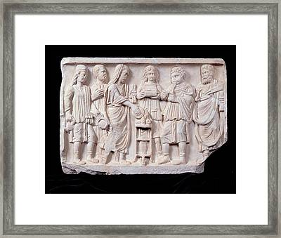 Unknown Artist, Relief With A Sacrifice Framed Print by Everett