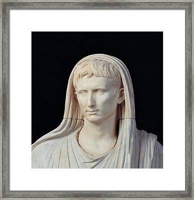 Unknown Artist, Statue Of Augustus Framed Print