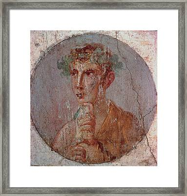 Unknown Artist, Young With Roll, 55 - Framed Print by Everett