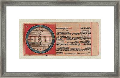 Unknown, Chart Of The Ja Jain Cosmos Framed Print by Everett