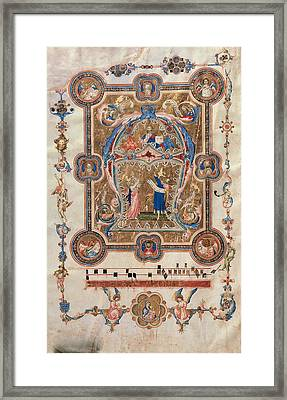 Unknown, Choral Music Initial A Framed Print by Everett