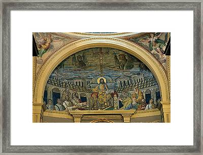 Unknown, Christ Teaching The Apostles Framed Print by Everett