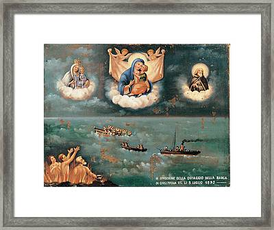Unknown, Ex-voto. The Storm, 1895, 19th Framed Print by Everett