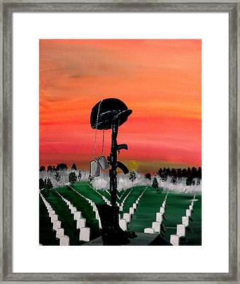 Unknown Hero Framed Print by Mark Moore