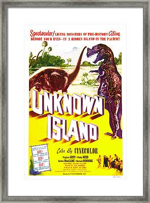 Unknown Island, Us Poster, 1948 Framed Print by Everett