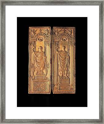 Unknown, Ivory Diptych With David Framed Print