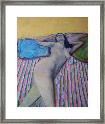 Unknown Pleasure Framed Print by Massimiliano Ligabue