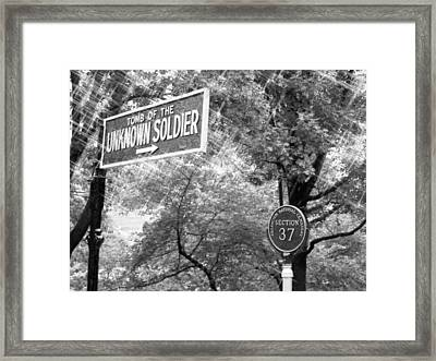 Unknown Soldier - Ahc Bw Framed Print