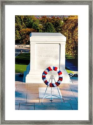 Unknown Tribute Framed Print by Greg Fortier