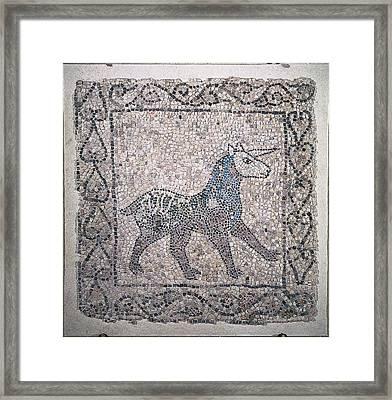 Unknown, Unicorn, 13th Century Framed Print by Everett