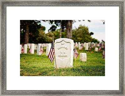 Unknown U.s. Soldier Framed Print by Scott Pellegrin