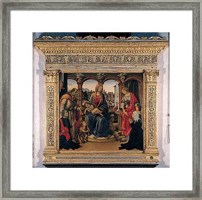 Unknown, Wood Framed Aedicula, 15th Framed Print