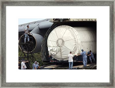 Framed Print featuring the photograph Unloading A Titan Ivb Rocket by Science Source