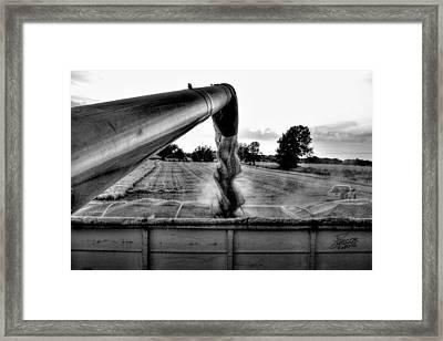 Unloading Framed Print