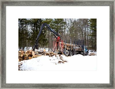 Unloading Firewood 1 Framed Print by Lanjee Chee