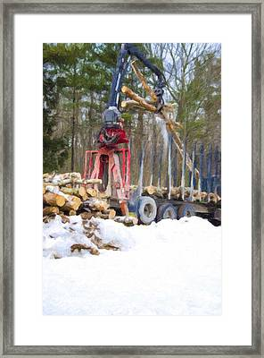 Unloading Firewood 10 Framed Print by Lanjee Chee