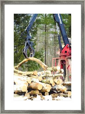Unloading Firewood 11 Framed Print by Lanjee Chee