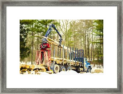 Unloading Firewood 6 Framed Print by Lanjee Chee