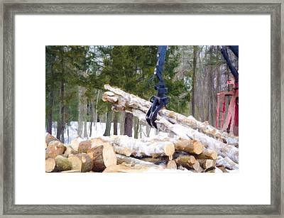 Unloading Firewood 8 Framed Print by Lanjee Chee
