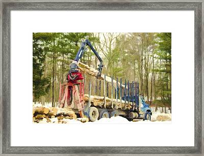 Unloading Firewood 9 Framed Print by Lanjee Chee