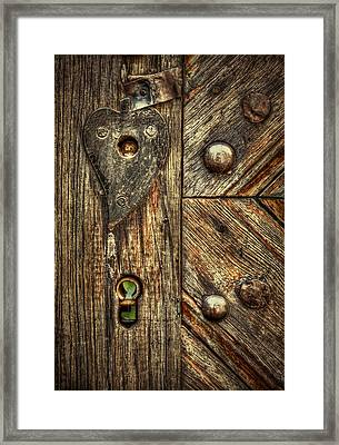 Unlock My Heart Framed Print by Evelina Kremsdorf