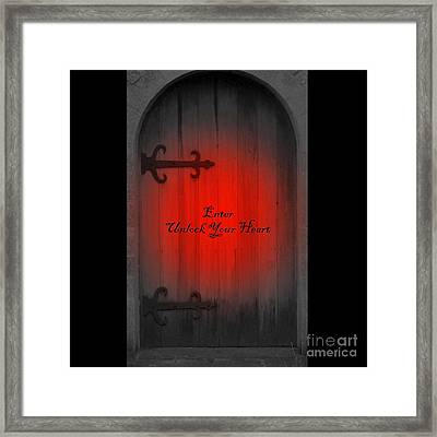 Framed Print featuring the photograph Unlock Your Heart by Linda Prewer