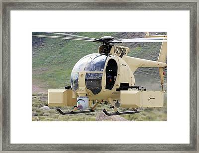 Unmanned Little Bird Helicopter Framed Print by Us Navy