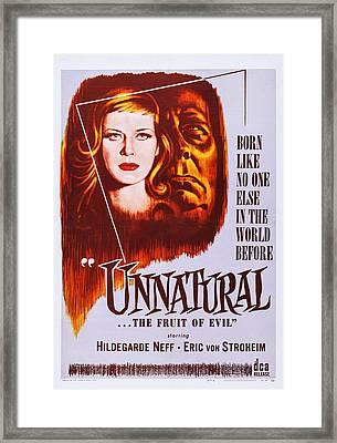 Unnatural, Aka Mandragore, Aka Alraune Framed Print by Everett