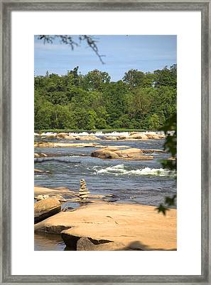 Unnatural Rock Formation Framed Print